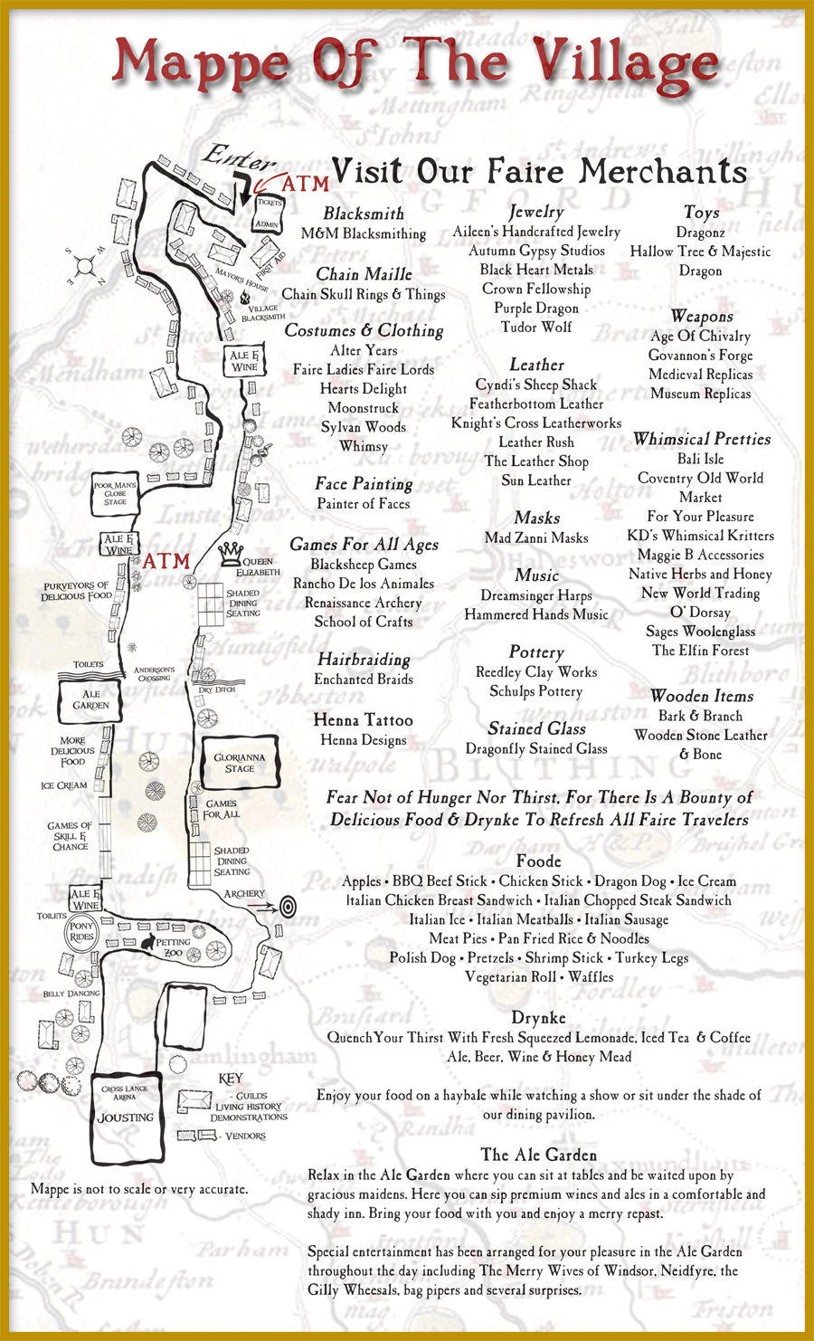 Map of the Central Coast Renaissance Festival