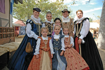 Beautiful Young Ladies At Faire